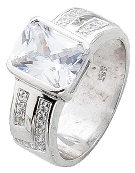 Silberring Sterling Silber 925 Zirkonia