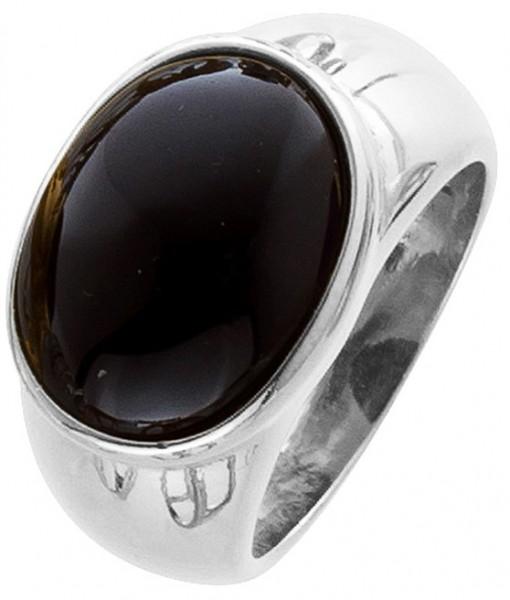 Damen Ring Silber 925 schwarzer Spinell Herrenring