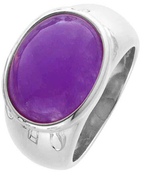 Lila Ring Lavendel Jade Sterling Silber 925 Edelstein violett