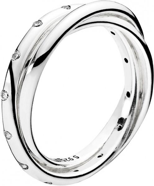 PANDORA Ring 191034CZ Verschlungene Symm...