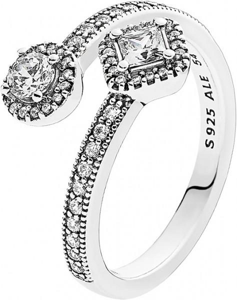 PANDORA Ring 191031CZ Abstrakte Eleganz ...