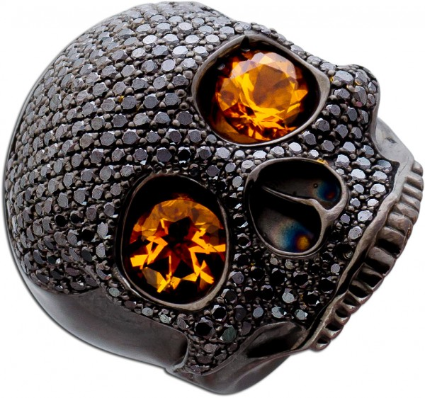 Totenkopfring by Saskia Dattner Ring Jim...