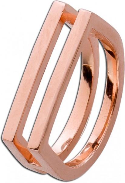 Ring Sterling Silber 925 Rose vergoldet Designer Ring