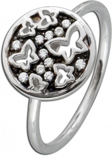 Damen Ring Silber 925 Schmetterling Silb...