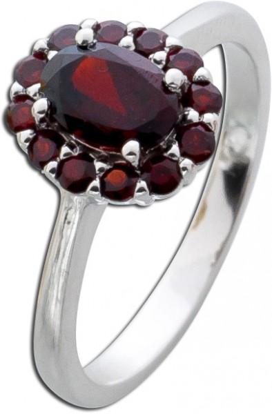 Ring Sterling Silber 925 Granat Granatri...