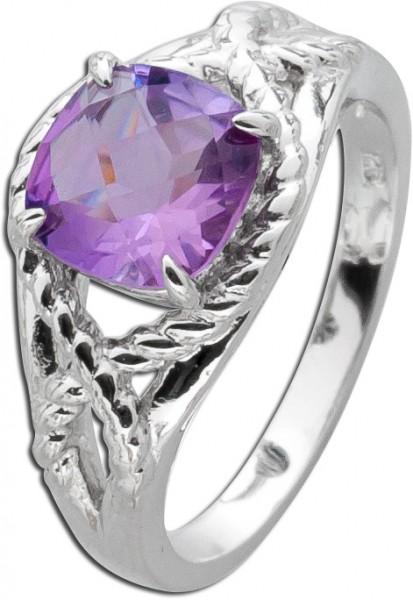 Ring Sterling Silber 925 facettierter Am...