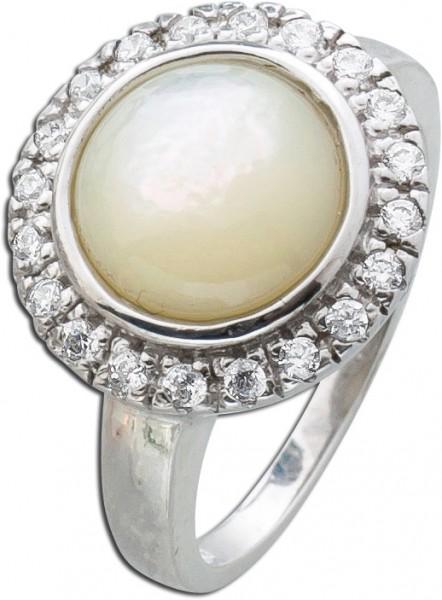 Perlmuttring Sterling Silber 925 Perlmut...