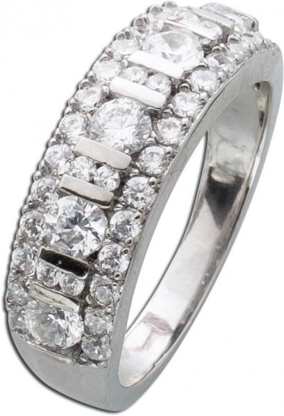 Silberring Zirkonia weiß Silber 925