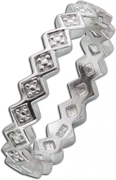 Diamantring Sterling Silber 925 Diamant