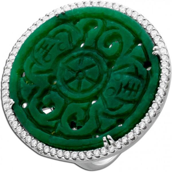 Ring Silber 925 Jade Zirkonia