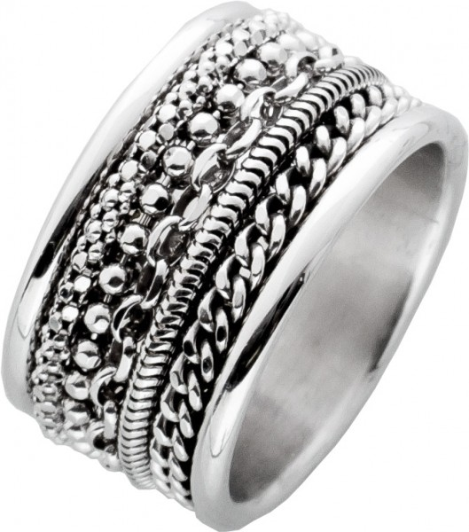 Silber Unisex Ring Sterling Silber 925 K...