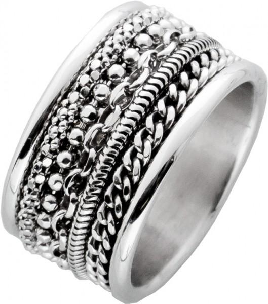 Silber Unisex Ring Sterling Silber 925 Ketten Elementen