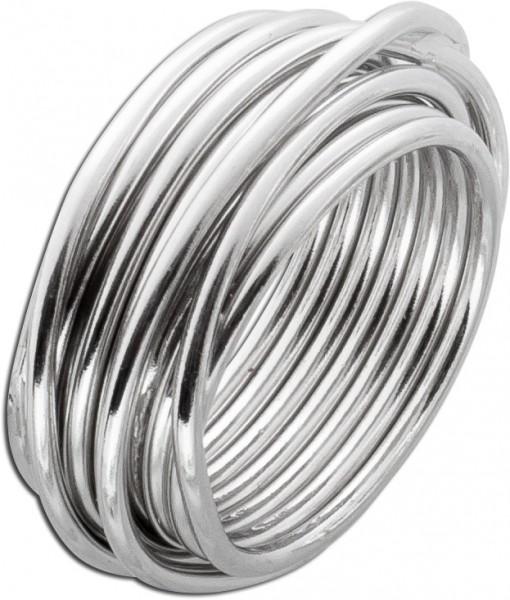 Ring Sterling Silber 925 mit vielen Silb...