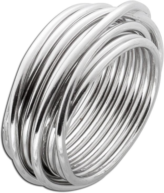 Ring Sterling Silber 925 mit vielen Silberdrähten - Silberringe