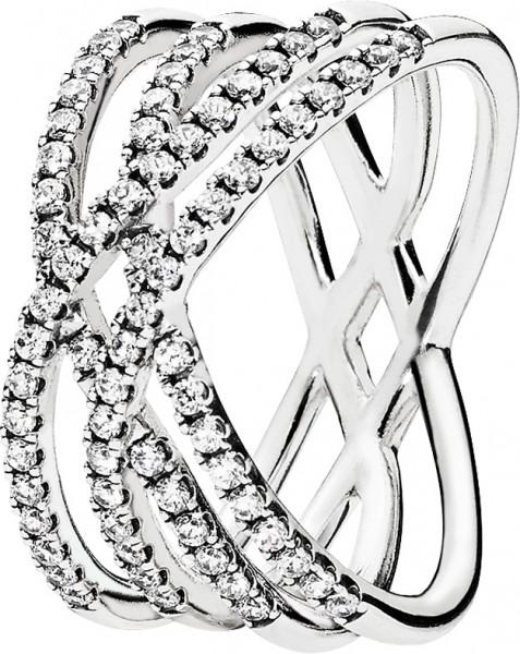 PANDORA SALE – Ring 196401CZ Kosmische Linien Sterling Silber 925 17-19mm