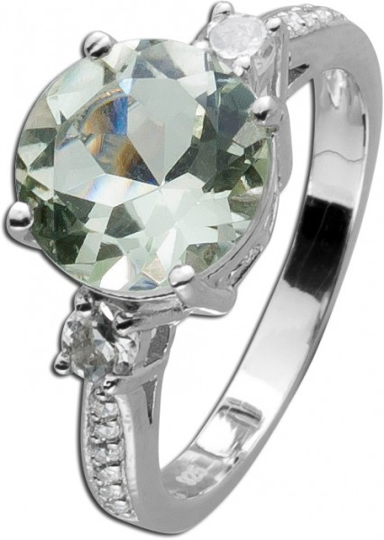 Grüner Amethyst Ring Sterling Silber 92...