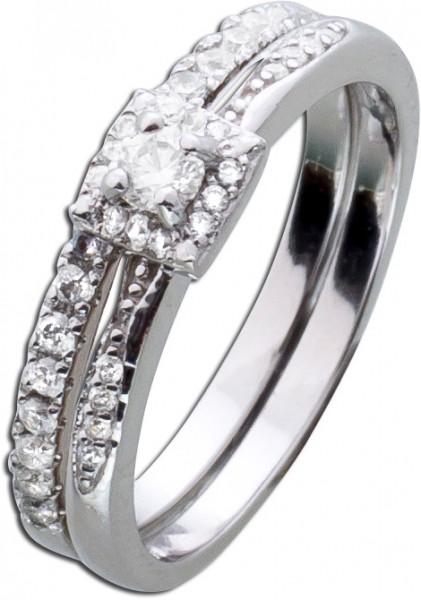Silberring Ring Silber 925 Set Damenring...