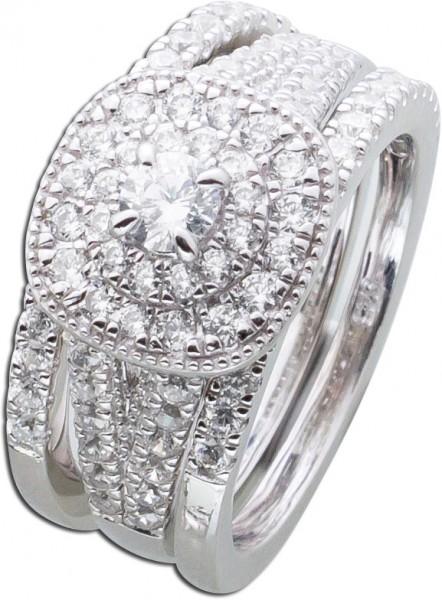 Ringset Silber 925 Ring Schmuckset Silbe...