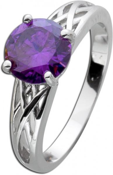 Amethyst Ring lila violett Silber 925 ru...