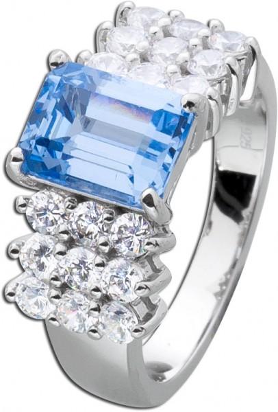 Aquamarin Ring Sterling Silber 925 Aquam...