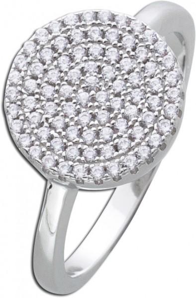 Runder Silberring weißen Zirkonia Silber 925 Damenring