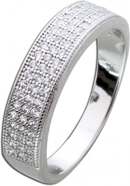Silberring weißen Zirkonia Silber 925 M...