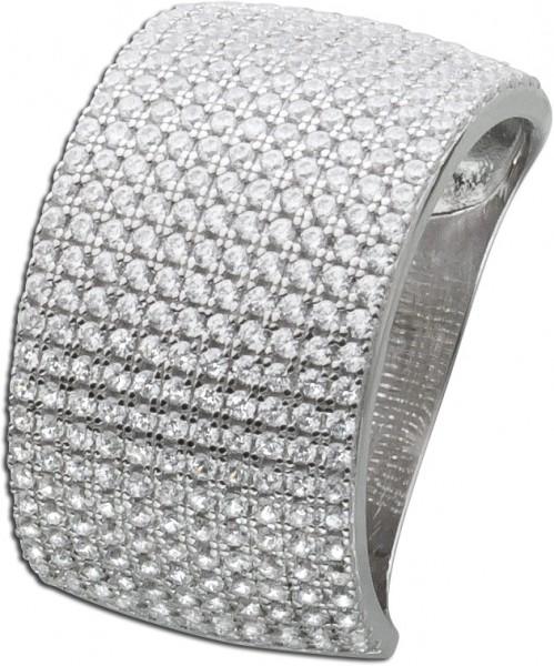 Silberring Zirkonia weiß Silber 925 Dam...