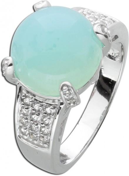 Blauer Edelstein Ring Silber 925 Türkis...
