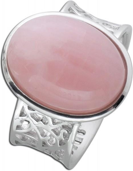 Rosenquarzring Silber 925  rosa Edelstei...