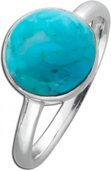 Türkis-Ring Sterling Silber 925 rekonst...