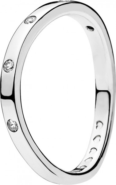 PANDORA SALE – Ringe 197113CZ Swirling Droplets Silber Sterling 925 Zirkonia