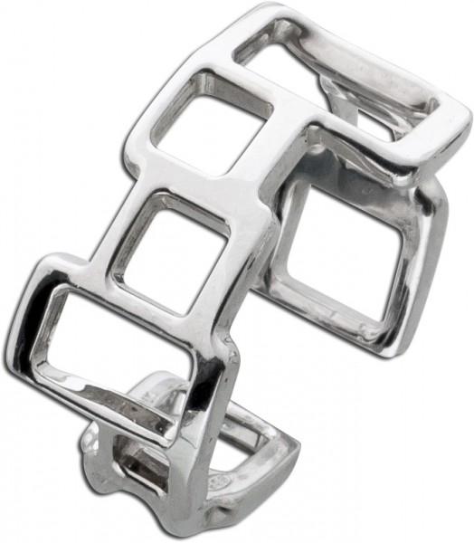 Moderner Ring Silber 925 eckiges Design ...
