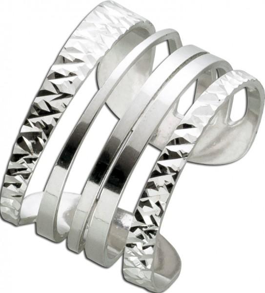 Damenring Silber 925 Ring offen dehnbar ...
