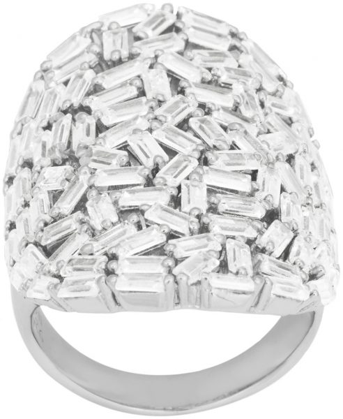 JOANLI NOR 145083 Ring Agga Sterling Silber 925 rhodiniert ca.80 Trapez Zirkonia