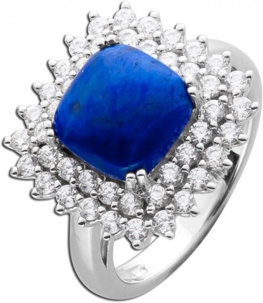 Blauer Lapislazuli Ring Blauer Edelstein...
