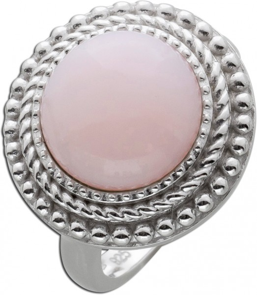 Runder Opal Ring pinkfarben Silber 925 E...