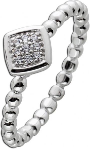 Kugel Ring Silber 925 weißen Zirkonia D...