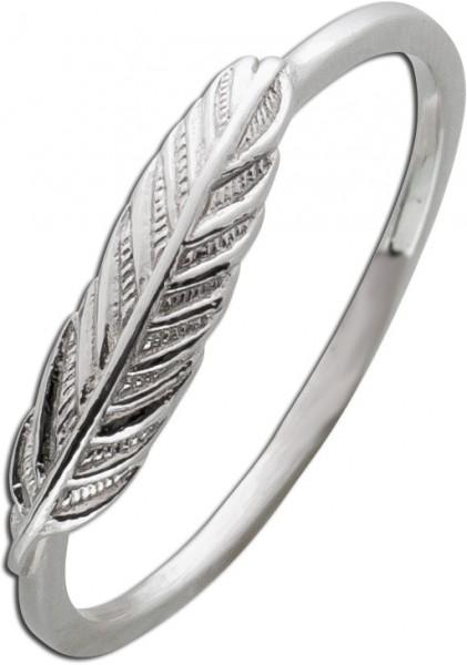 Feder Ring Silber 925 Damenschmuck