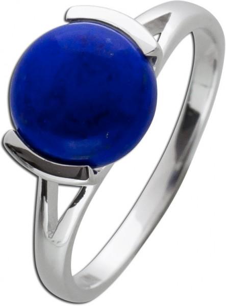 Silberring Edelstein blau Ring Silber 925 Lapislazuli Edelsteinschmuck