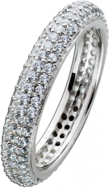 Memoire Ring Alliance Silber 925 weisse ...
