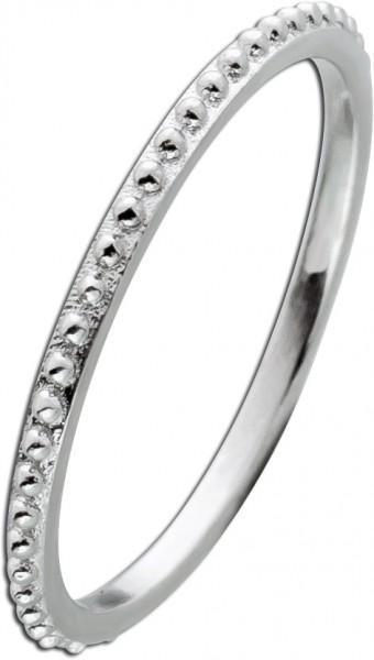 Noppen Ring Silber 925 kleine silberfarbene Noppen Damen