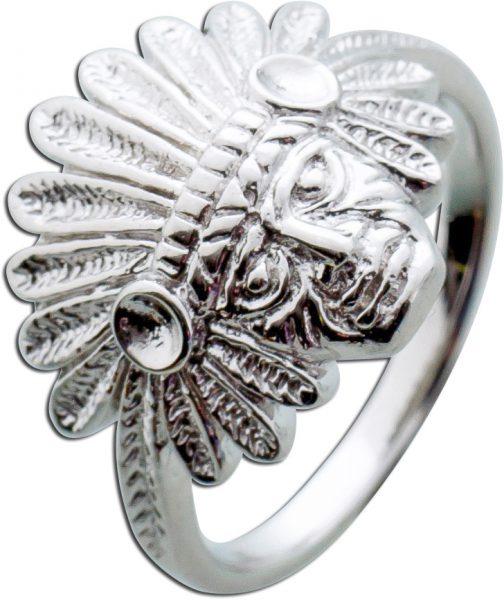 Indianerring Sterling Silber 925 Indianer Schmuck Unisex 17-20mm