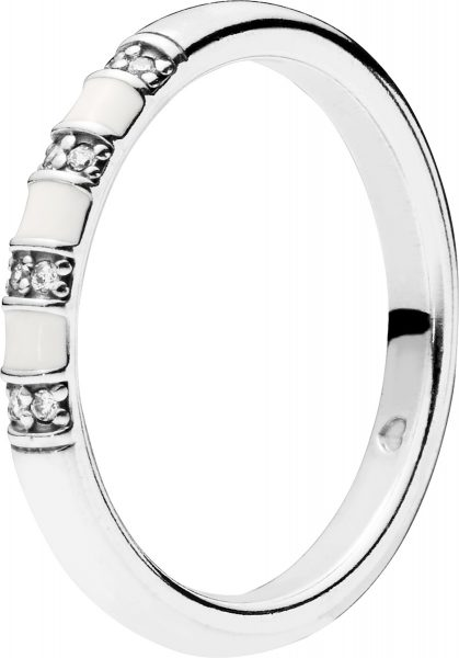 PANDORA SALE Ring 198052CZ Ring Stackable Exotic Stones and Stripes weisse Zirkonia