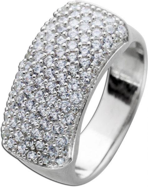 Weißer Ring Silber 925 Zirkoniaschmuck Damenring