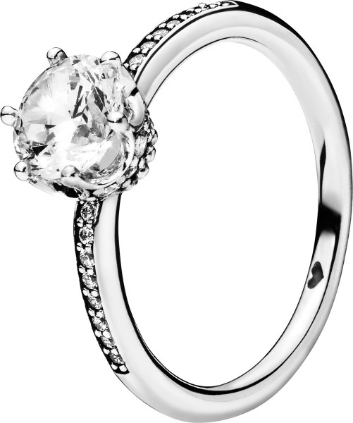 PANDORA SALE Ring 198289CZ Clear Sparkling Crown Solitär Zirkonia