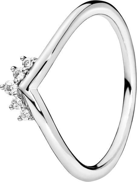PANDORA SALE Ring 198282CZ Tiara Wishbone Sterling Silber Zirkonia Vorsteckring