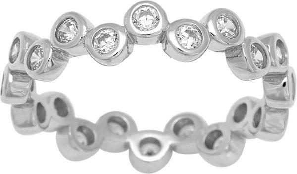 JOANLI NOR Ring EMMYNOR 145 087 Silberring Zirkonia silber rhodniert, Br. 4mm