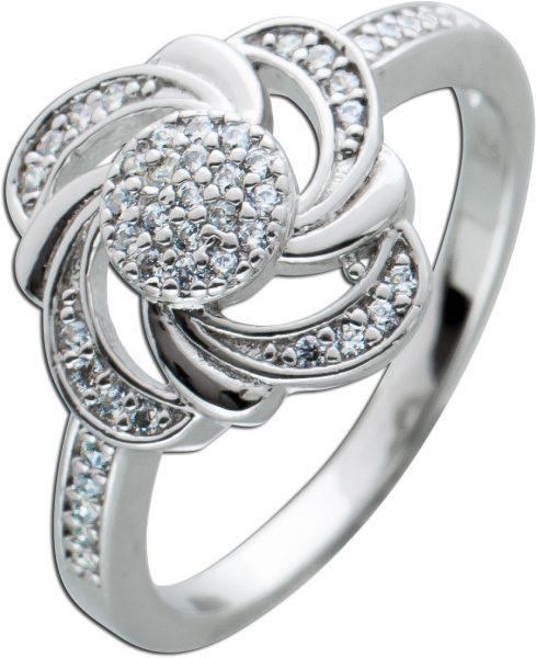 Ring weißen Zirkonia Silber 925 Damen Ring