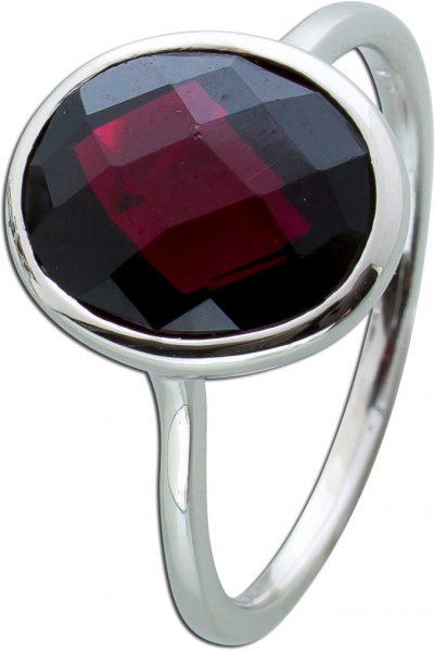 Ring roten Granat Silber 925 Edelsteinschmuck