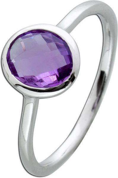 Edelstein Ring lilafarbenen Amethyst  Silber 925 Damen Schmuck